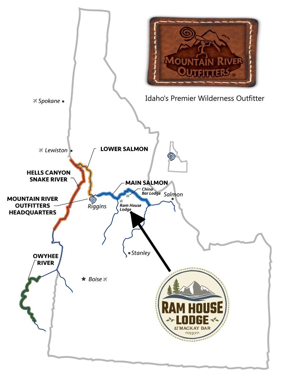 Idaho Rivers map